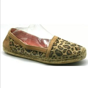 Sperry Danica Espadrilles Flat Slip Loafer Leopard